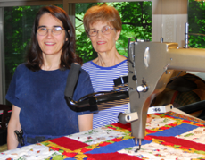 Cami, Louise, and the Quilter